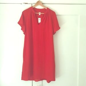 NEW GAP Red Loose Hanging Party Dress M